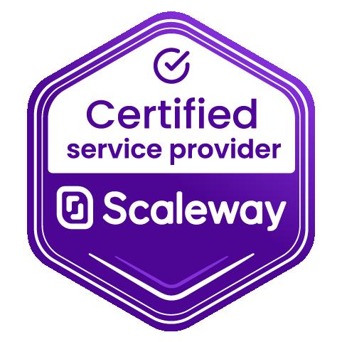 Scaleway Certified Service Provider Logo